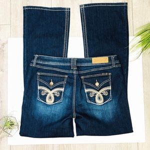 Seven 7 Bootcut Dark Blue Jeans Size 16